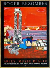 BEZOMBES Roger * ARLES * 1968 * MOURLOT Affiche Originale lithographique