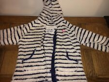 Girls Boys Next Fleece Coat Summer White And Pink Stripe 12-18 Months Designer