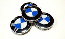 4x Logo Jante BMW Bleu Blanc 56mm Cache Moyeu Centre De Roue Emblème