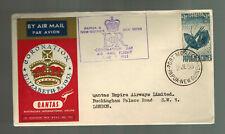 1953 Papua NG QE II Coronation First Day Cover England Queen Elizabeth Qantas