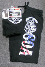 NWT mens SONS OF ANARCHY SOA FLAG Soft LOUNGE SWEAT PANTS pjs SMALL 28 -30