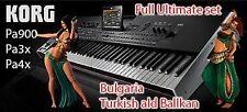 Set Bulgaria Turkish ald Ballkan for Korg pa900 Pa3x Pa4x Pa2x add Pa800