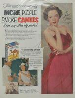 Vintage Camel Tobacco Cigarettes Print Ad More People Smoke Camels