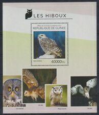 E405. Guinea - MNH - 2014 - Nature - Animals - Birds - Owls - Bl.