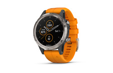GARMIN Fenix 5 Plus Saphir Orange GPS Sport Handgelenk HR Uhr 47 mm 010-01988-05