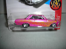 2016 HOT WHEELS SUPER TREASURE HUNT CUSTOM CLONE- '63 CHEVY II-HUNT CARD