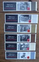 GIBRALTAR 2014 CENTENARY OF WWI SET 6 MINT STAMPS WITH TABS MNH