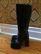 vtg 1990s  platform disco chunky clubwear   MAYIS knee boots size 37 Italy