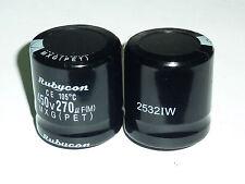 2pcs 270uF 450V Rubycon MXG 30x30mm 450V270uF Snap-in Electrolytic Capacitor