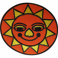 Sun Patch Embroidered Badge Embroidery Crafts Applique Iron Sew On Clothes Bags