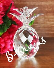Crystal Cut Clear Pineapple For Home Decor Gift With Gift Box