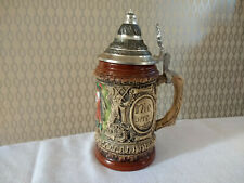 Traditional Ceramic Stein German Beer Stein Drinking Mug With Lid