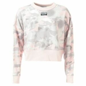 Women's adidas Originals Relaxed Fit Cropped Sweatshirt in Pink