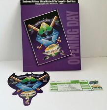 1998 Tampa Bay Devil Rays Opening Day Baseball Tickets Limited Edition Holder