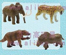 4pc 4D Animal Puzzle Toy Assembly Woolly Mammoth Smilodon Megatherium Rhino B-44