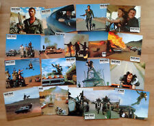 Mel Gibson MAD MAX II THE ROAD WARRIOR - rare set of 18 German lobby cards 1982