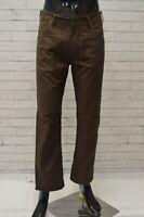 Pantalone LEE Uomo Taglia Size 46 Jeans Pants Man Cotone Gamba Dritta Marrone