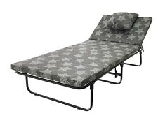 Folding bed with Mattress LUX Guest Single Bed Compact Put You Up Spare Bed