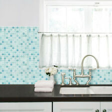 Self Adhesive Wall Tiles Peel And Stick Backsplash Kitchen Wallpaper Green Blue