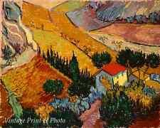 Landscape with House & Ploughman by Vincent Van Gogh Art Plowman 8x10 Print 0497