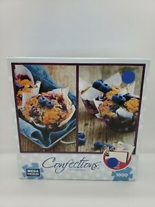 Confections Homemade Blueberry Muffins Mega Puzzles 1000 Piece 2015 Complete