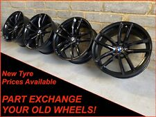 "Genuine 18"" BMW 5 Series G30 3 Series 4 Series 662m Black Alloy Wheels"