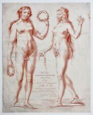 """Le Clerc """"Cahier de Principes De Dessein d'Après la Nature"""" 1 gravure sanguine"""