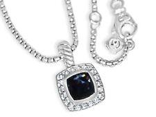 DAVID YURMAN PETITE ALBION 7MM BLACK ORCHID DIAMOND 17 IN ADJUSTABLE NECKLACE