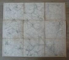 Carte ancienne vers 1900 - Vosges - Lutzelstein - Petite Pierre 1/25000 Entoilée
