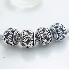 10pcs retro Tibetan silver spacer beads fit Charm European Bracelet wholesale  #