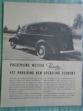 Meteor Sevice Car (Funeral hearse) brochure c1950's USA market