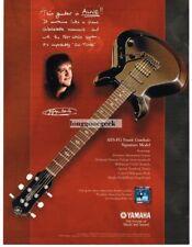 2002 YAMAHA AES-FG Electric Guitar FRANK GAMBALE Vtg Print Ad