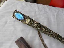 Vintage Light Purple Umbrella W/ Sterling Silver Repoussed Handle Lg Gem