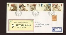 1984 Natale Royal Court POST OFFICE CON BUCKINGHAM PALACE CD FDC