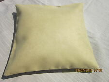 "Designer cushion cover ""Macrosuede"" by Warick 17"" square soft yellow"