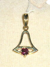 SOLID    14K   Gold    RUBY      Pendant
