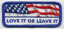 LOVE IT OR LEAVE IT EMBROIDERED IRON ON BIKER PATCH
