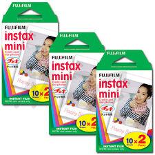 Fujifilm Instax Mini 25 50s 7s 8 Instant Film (Twin Pack) 60 shots (3 Pk) FRESH