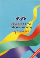 Ford Ka Fiesta Escort Mondeo Special Offers 1997 UK Market Foldout Brochure