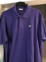 Lacoste Mens Purple Cotton Polo Shirt Size Extra Large XL (6)
