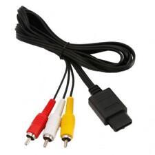 AV RCA Audio Video Cable For Nintendo 64 (N64) - SNES - Gamecube - New - UK