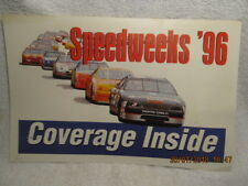 1996 Daytona FL News-Journal Newspaper Poster Speedweeks '96 Photo Dale Sr. Car
