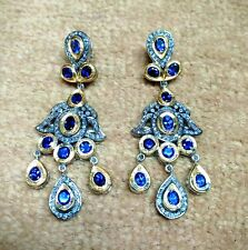 Amethyst Gemstone Earring,Pave Diamond Earring,925 Silver Victorian Jewellery