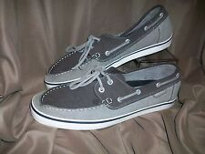 SUPERGA MENS SIZE 11.5 SUEDE LEATHER BOAT SHOES BROWN BEIGE