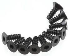Axial Racing Spawn AXA464 Hex Socket Tap Flat Head M3x8mm Black (10)
