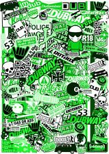 Noir /& Blanc JDM Sticker Bombardement Feuille 300 x 300 Stickerbomb euro