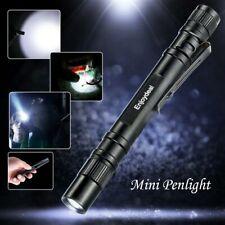 1000Lumens LED Mini Penlight Super Bright Flashlight Hand Torch Lamp Clip AAA