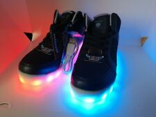 NEW! Skechers Girls Energy Lights Blue with Purple inserts Glitter #10940L NVY