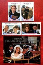 Tuvalu Stamps Funafuti Royal Wedding  SC#59-61 + S/S Full Set MNH/OG