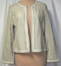 c6245d96027 Tory Burch Anders Perforated Heart Leather Open Front Cardigan Jacket -XL-Soldout